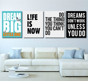 4 Piece Dream Big Little One Canvas Wall Art Prints Poster Picture-022 (2)