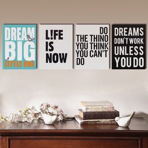 4 Piece Dream Big Little One Canvas Wall Art Prints Poster Picture-022 (3)