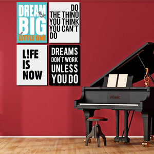 4 Piece Dream Big Little One Canvas Wall Art Prints Poster Picture-022 (5)