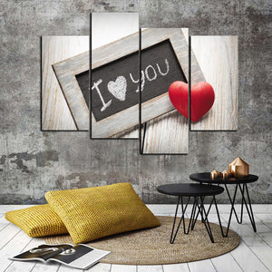 4 Panel I Love You Canvas Prints Oil Painting Wall Decor Art Picture-038 (4)