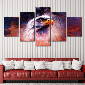 5 Panel Abstract Eagle Painting Prints Canvas Art-035 (1)
