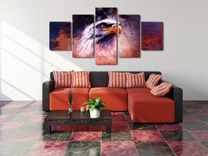 5 Panel Abstract Eagle Painting Prints Canvas Art-035 (2)