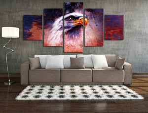 5 Panel Abstract Eagle Painting Prints Canvas Art-035 (3)