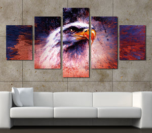 5 Panel Abstract Eagle Painting Prints Canvas Art-035 (4)