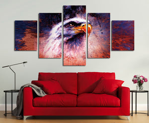 5 Panel Abstract Eagle Painting Prints Canvas Art-035 (5)