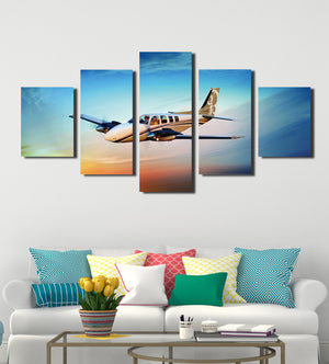 5 Panel Airplane Canvas Printed Picture Wall Art-061 (1)