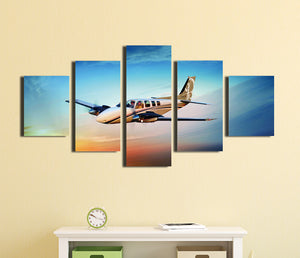 5 Panel Airplane Canvas Printed Picture Wall Art-061 (4)