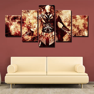 5 Panel Assassin Ceed Ezio Canvas Wall Art Print Picture Decor Poster-214 (1)