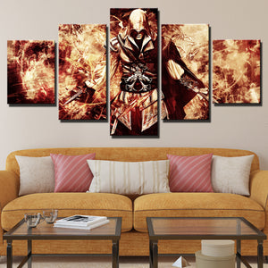 5 Panel Assassin Ceed Ezio Canvas Wall Art Print Picture Decor Poster-214 (2)