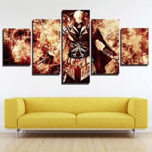 5 Panel Assassin Ceed Ezio Canvas Wall Art Print Picture Decor Poster-214 (3)