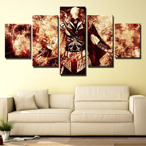 5 Panel Assassin Ceed Ezio Canvas Wall Art Print Picture Decor Poster-214 (4)