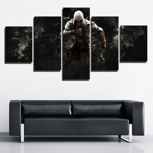 5 Panel Assassins Creed 3 Connor Canvas Print Picture Wall Decor Art-217 (1)