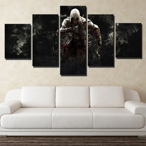 5 Panel Assassins Creed 3 Connor Canvas Print Picture Wall Decor Art-217 (2)