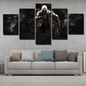 5 Panel Assassins Creed 3 Connor Canvas Print Picture Wall Decor Art-217 (3)