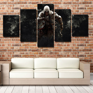 5 Panel Assassins Creed 3 Connor Canvas Print Picture Wall Decor Art-217 (4)