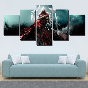 5 Panel Assassins Creed Ezio Wall Pictures Print Poster Decor-216 (2)