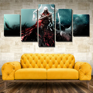 5 Panel Assassins Creed Ezio Wall Pictures Print Poster Decor-216 (3)