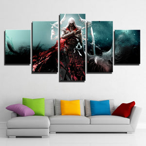 5 Panel Assassins Creed Ezio Wall Pictures Print Poster Decor-216 (4)