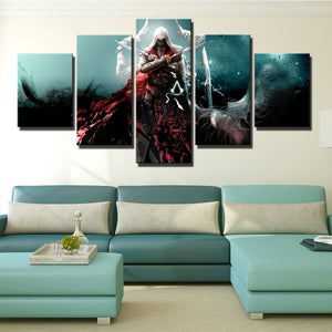 5 Panel Assassins Creed Ezio Wall Pictures Print Poster Decor-216 (1)