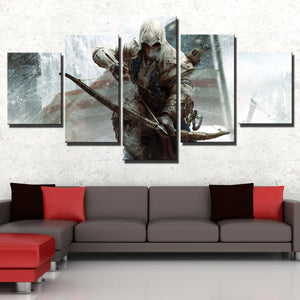 5 Panel Assassins Creed III Connor Kenway Print Poster Wall Decor Canvas Art-218 (3)
