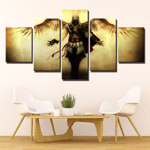 5 Panel Assassins Creed II Ezio Canvas Print Wall Art Decor-220 (1)