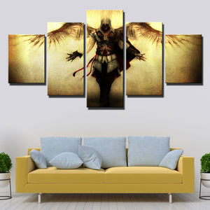 5 Panel Assassins Creed II Ezio Canvas Print Wall Art Decor-220 (2)