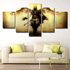 5 Panel Assassins Creed II Ezio Canvas Print Wall Art Decor-220 (3)