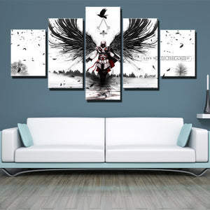 5 Panel Assassins Creed II Print Picture Canvas Wall Art-212 (1)