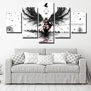 5 Panel Assassins Creed II Print Picture Canvas Wall Art-212 (2)