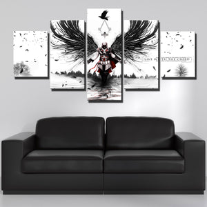 5 Panel Assassins Creed II Print Picture Canvas Wall Art-212 (3)
