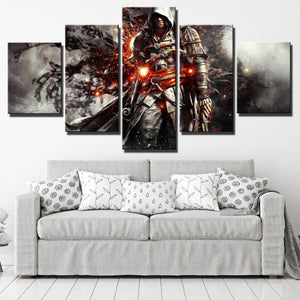 5 Panel Assassins Creed IV Black Flag Edward Canvas Print Wall Art-222 (2)