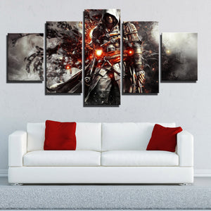 5 Panel Assassins Creed IV Black Flag Edward Canvas Print Wall Art-222 (3)