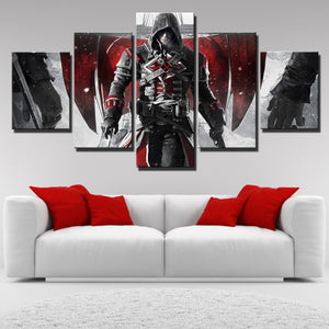 5 Panel Assassins Creed Rogue Shay Canvas Print Art Picture Wall Art Decor Set-223 (1)