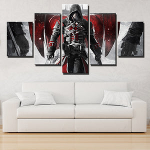 5 Panel Assassins Creed Rogue Shay Canvas Print Art Picture Wall Art Decor Set-223 (2)