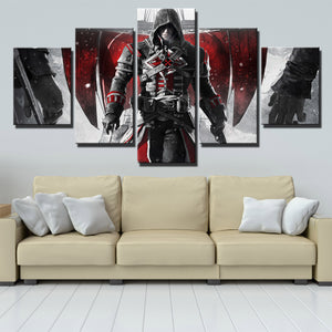 5 Panel Assassins Creed Rogue Shay Canvas Print Art Picture Wall Art Decor Set-223 (3)