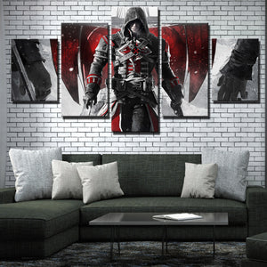 5 Panel Assassins Creed Rogue Shay Canvas Print Art Picture Wall Art Decor Set-223 (4)