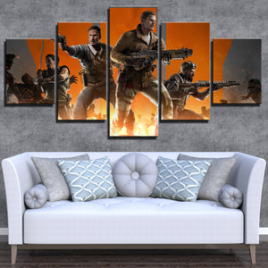 5 Panel Call of Duty Black Ops 3 Canvas Art Pictre Print Poster-208 (2)