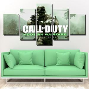 5 Panel Call of Duty Canvas Print Picture Poster Art-209 (2)