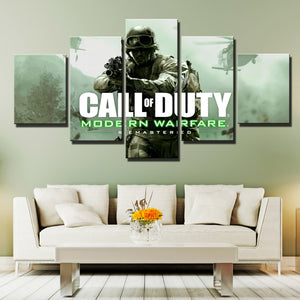 5 Panel Call of Duty Canvas Print Picture Poster Art-209 (3)