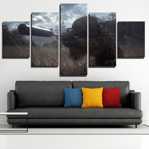 5 Panel Call of Duty Modern Warfare Sniper Print Art Canvas Picture Poster