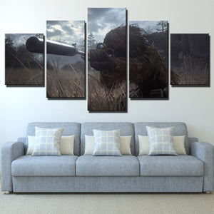 5 Panel Call of Duty Modern Warfare Sniper Print Art Canvas Picture Poster-207 (2)