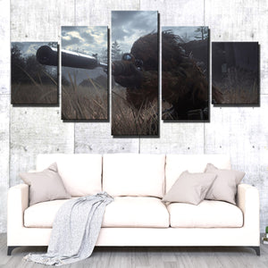 5 Panel Call of Duty Modern Warfare Sniper Print Art Canvas Picture Poster-207 (3)
