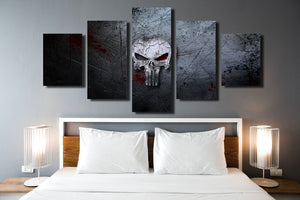 5 Panel Canvas Prints Painting Punisher Skull Canvas Art-056 (4)