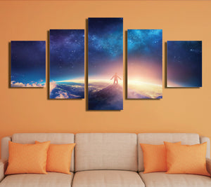 5 Panel Canvas Prints look up at the starry sky-057 (1)