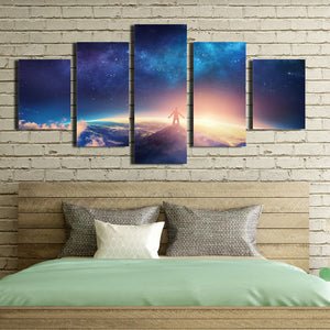 5 Panel Canvas Prints look up at the starry sky-057 (2)