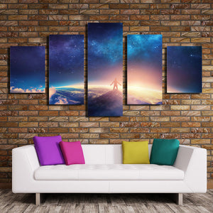 5 Panel Canvas Prints look up at the starry sky-057 (4)