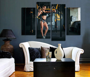 4 Panel Fitness Bodybuilding Gym Picture Print Canvas Wall Art-048 (3)