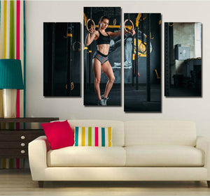 4 Panel Fitness Bodybuilding Gym Picture Print Canvas Wall Art-048 (4)