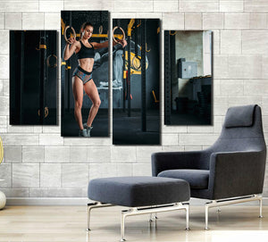 4 Panel Fitness Bodybuilding Gym Picture Print Canvas Wall Art-048 (5)