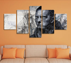 5 Panel Hip Hop Rap Boy Slim Shady Canvas Print Art-047 (1)